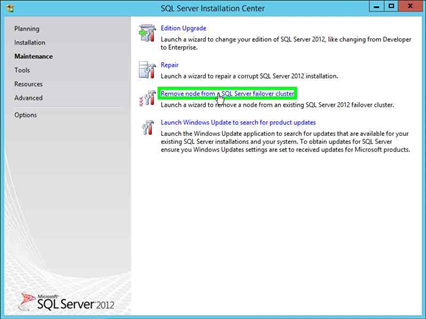 Remove an instance from the SQL Failover Cluster | Ammar's